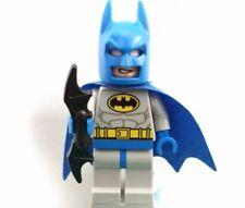 LEGO Super Heroes Batman Minifigure Blue Mask Cape & Suit Yellow Belt Sh111 RARE