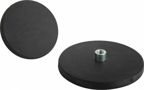 Rubber Coated Female Thread Pot Magnet 43mm x 5mm Anti Scratch Paint Protection