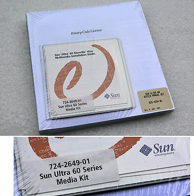 Unito Sun Software Cdrom & Manuale Sun Ultra 60 Media Kit P/n 724-2649-01 Sun_18- Sapore Aromatico