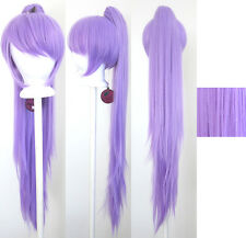 40'' Wavy Pony Tail + Base Lavender Purple Cosplay Wig NEW
