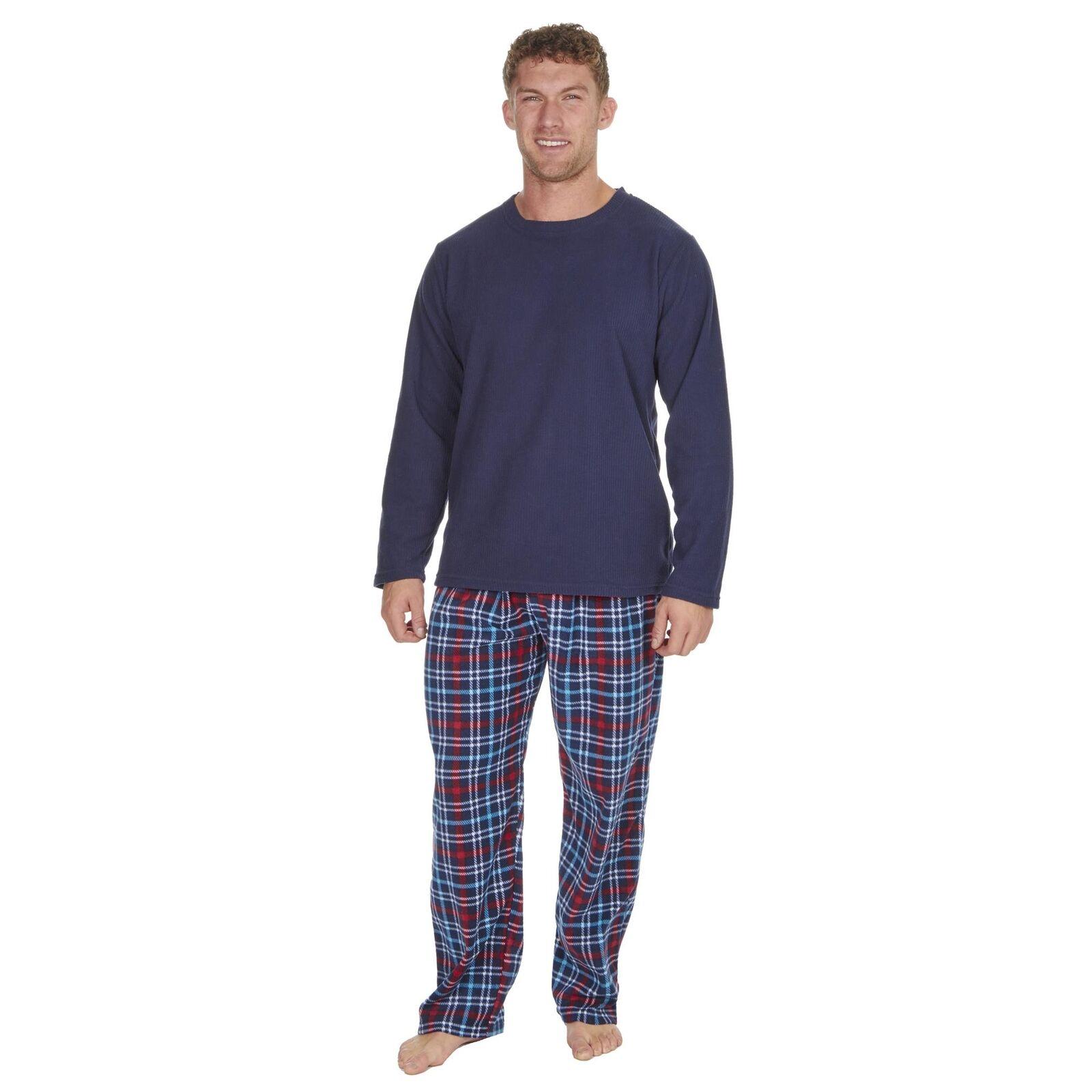 Cargo Bay Homme micropolaire Lounge Pyjamas Haut Haut Haut Et Bas Set 6822b5