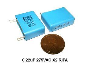 100pcs .22uf 275v X2 RIFA Interference Suppression Capacitors NEW 22mm LS