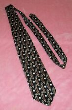 """MEN'S GOLF """" T-TIME""""  NECK TIE. 100% SILK  MADE IN THE U.S.A  FREE SHIPPING"""