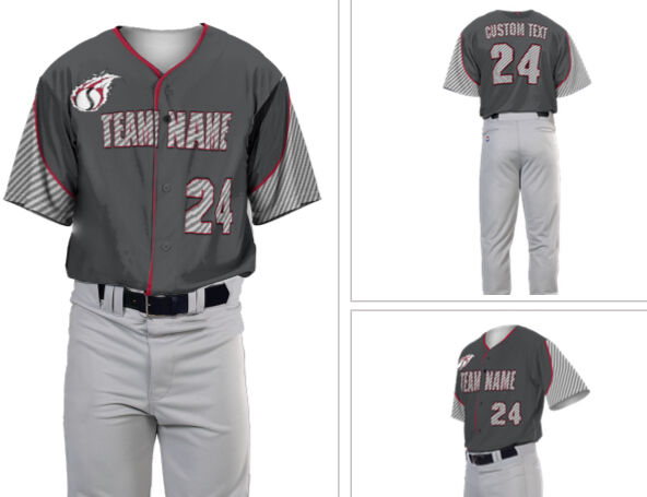 Sublimated baseball jersey, accents carbon fiber accents jersey, includes 2 text areas & number 3def72