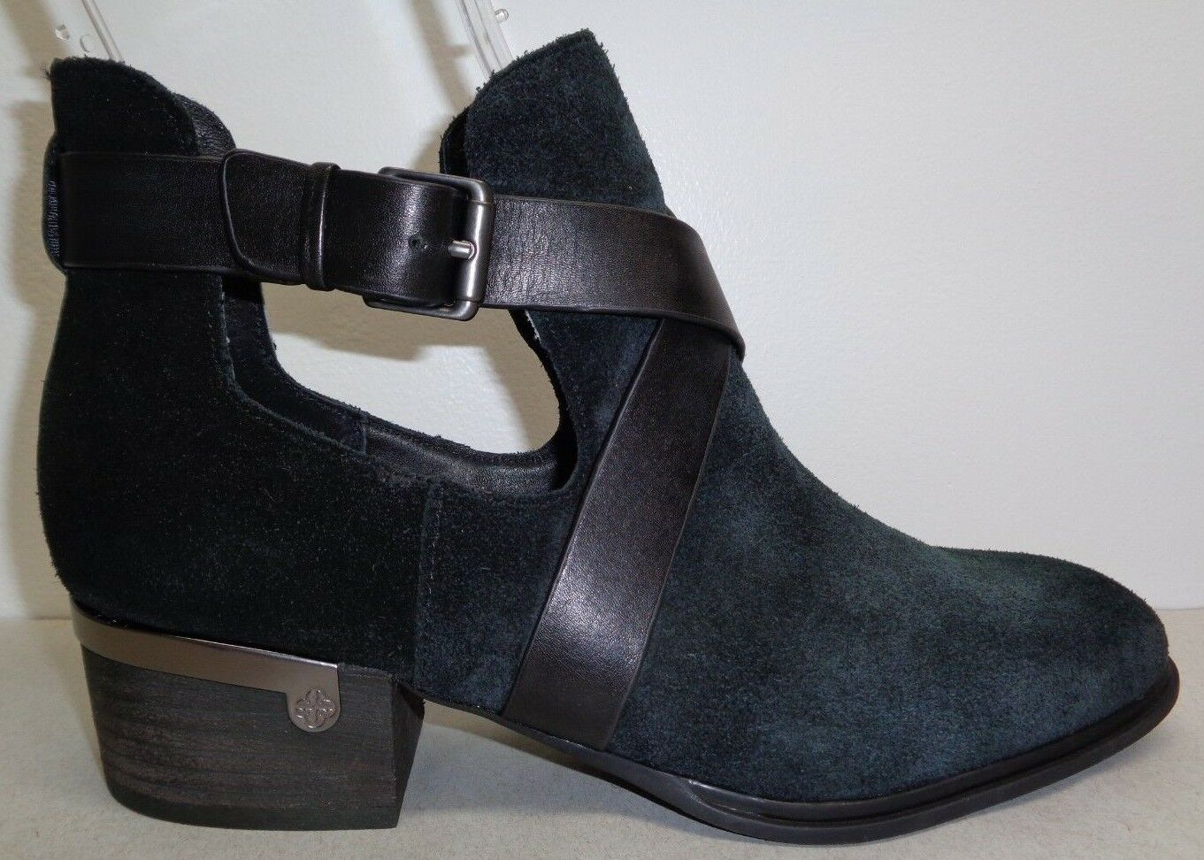 Isola Size 7 M DAVAN Black Suede Ankle Boots New Womens shoes