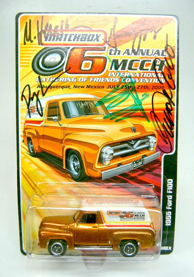 Matchbox Ford f-100  6. MCCH Gathering ABQ, USA  Special MODEL with Autographs