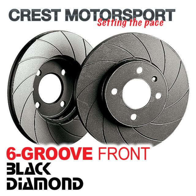 MITSUBISHI Colt 1.5 Turbo CZT 04- BLACK DIAMOND 6-Groove Front Brake Discs