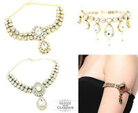 Kundan Stones Arm Chain Baju Jewellery Cuff Bracelet Armlet Bridal Bollywood