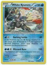 WHITE KYUREM 21/124 XY FATES COLLIDE POKEMON REVERSE HOLO CARD NEW MINT