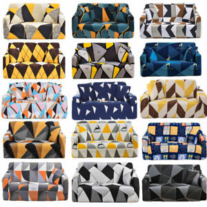 1/2/3/4 Seater Sofa Covers Spandex Slipcover Protector Bubble lattice Carvings