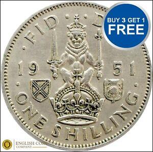 George-VI-ecossais-silver-shilling-1937-a-1951-Choix-de-l-039-annee-date