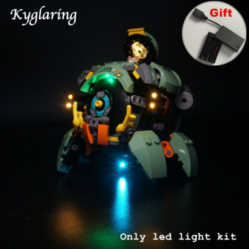 Kyglaring LED Light for LEGO 75976 Wrecking Ball Beleuchtungs with battery box