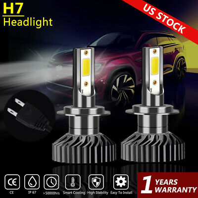Led Headlight Kit H7 White 6k Low Beam Cree Bulbs For Kia Forte 5