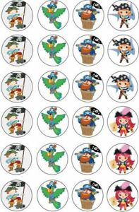 24-X-PIRATE-THEMED-CUPCAKE-TOPPERS-EDIBLE-THICKER-PREMIUM-RICE-PAPER-195