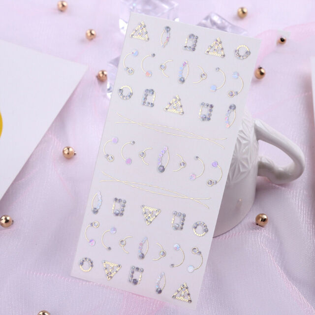3D Nail Sticker Self-adhesive Transfer Jewelry Stickers Colorful Decors Nail Art