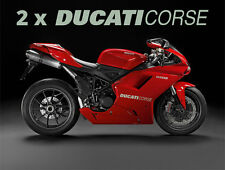 2x Ducati Corse 1299 1199 1098 999 998 899 748 Fairing Decal Sticker Motorcycle