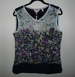 da149ae7482966 Image is loading Stunning-Ted-Baker-Enchantment-Vest-Tee-Top-Size-