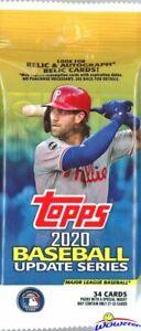 2020-Topps-Update-Baseball-HUGE-Factory-Sealed-JUMBO-FAT-PACK-34-Cards