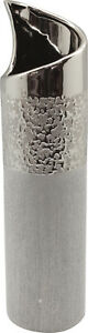 Moderne-Deko-Vase-Blumenvase-Tischvase-aus-Keramik-champagner-silber-Hoehe-40-cm