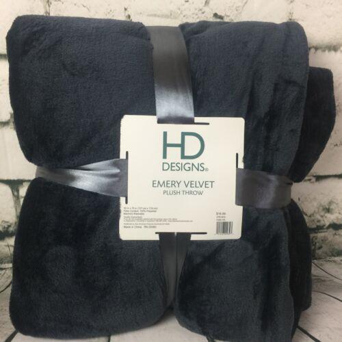 "HD Deisgn Ultra Soft Warm Emery Plush Velvet All Season Throw Blanket 50/"" x 70/"""