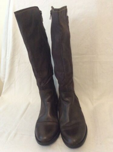 Size High Leather Pavers Knee Boots 39 Brown xqZ8X8nvU