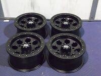 14 Polaris Rzr 800 S4 Beadlock Black Atv Wheels Set 4 - Lifetime Warranty