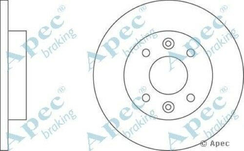 1x OE Quality Replacement Front Axle Apec Solid Brake Disc 4 Stud 238mm Pair