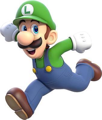 LUIGI RUN Super Mario Bros Decal Removable WALL STICKER Home Decor Art Kids