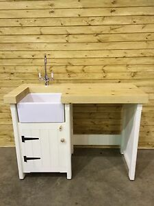 free standing sink. Image Is Loading Pine-Freestanding-Small-Belfast-Butler-Sink-Unit-Appliance- Free Standing Sink