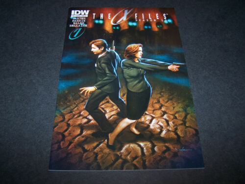 THE X-FILES SEASON 10 #1 A COVER VARIANT 1ST PR FOX MULDER DANA SCULLY TV SERIES