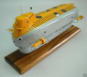 Details about PX-15 Submersible Ben Franklin Submarine Desk Wood Model  Small New