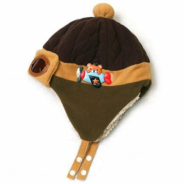 Cool Winter Baby Toddlers Girls Boys Kids Pilot Aviator Cap Warm Soft Beanie Hat