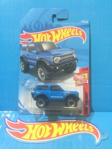 2021 HOT WHEELS D CASE NEW CASTING '21 FORD BRONCO THEN AND NOW 3//10 #100 BLUE