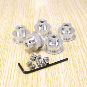 2pcs GT2 Aluminum Timing Pulleys 15 Tooth 5mm Bore for RepRap Prusa 3D Printer