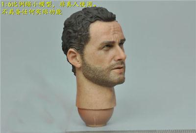 "DAM 1//6th 12/"" Figure Accessory The Walking Dead Rick Sheriff Male HeadSculpt"