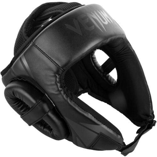 Venum Head Guard Challenger Open Face Headgear Black Black Training Sparring