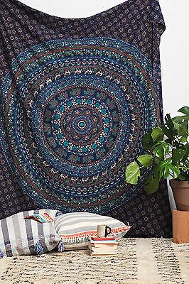 Indian Tapestry Wall hanging Twin Mandala Throw Beach Sheet Hippie Bedspread