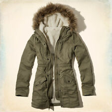 HOLLISTER By Abercrombie & Fitch Winter Coat/Parka sherpa NO FUR Medium