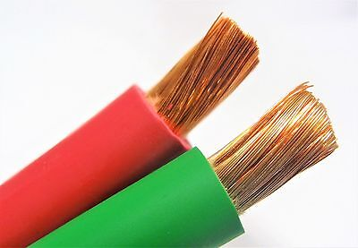 200/' 2//0 WELDING BATTERY CABLE 100/' RED 100/' GREEN  600V USA HEAVY DUTY COPPER