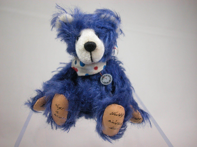 "World of Miniature Bears 3/"" Mohair Piano Bear #1195 Christmas sale"