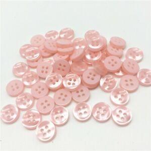 lot-de-20-bouton-scrapbooking-4-trou-rose-clair-mercerie-couture-11-mm-couture