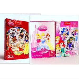 Disney Princesses Playing Cards. Black Peter, Old Maid, Memo, Domino