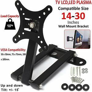 TV-Wall-Bracket-Tilt-amp-Swivel-For-14-15-18-20-22-24-25-28-30-034-3D-LED-LCD-Plasma