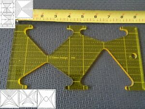 Quilting Template Ruler 5mm Triangles for Long Arm, High Shank ...