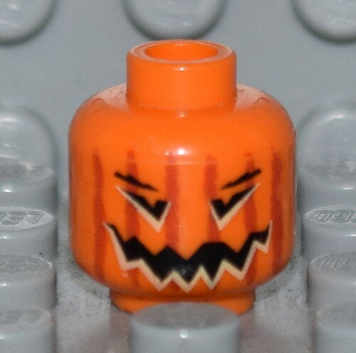 Lego Minifigure Head Orange Pumpkin Harry Potter
