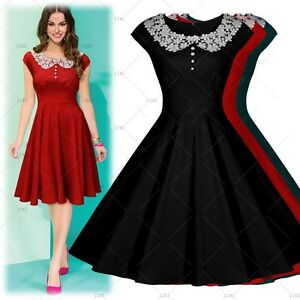 Women's Cocktail Evening Party Casual Vintage Lace Wiggle Swing Flared Dresses