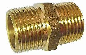 "Karcher 9.802-108.0 Fitting Hex Nipple 1//4/""Mx1//4/""M Brass"