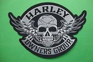 Genuine-HARLEY-DAVIDSON-5-inch-034-Skull-amp-Wings-034-HOG-EMBROIDERED-PATCH