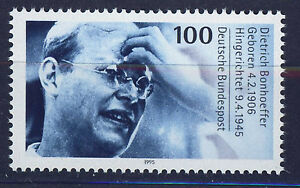 ALEMANIA-RFA-WEST-GERMANY-1995-MNH-SC-1890-D-Bonhoeffer-protestant-theologian