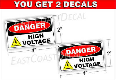 """4 DANGER OXYGEN IN USE 4.5/"""" x 3/"""" DECAL STICKERS UV EXT or INT FREE SHIPPING"""
